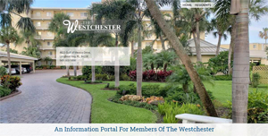 Home page screen shot of the Westchester Condominium on Longboat Key built with WordPress